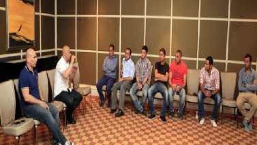 حسام حسن يجتمع بلاعبي منتخب الأردن