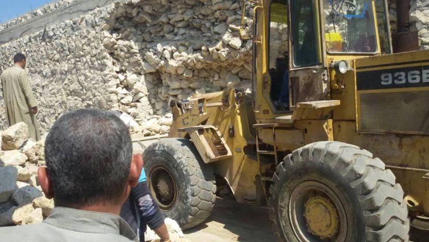 بالصور| النقل: الانتهاء من إصلاح تلفيات كوبري المحلة اليوم