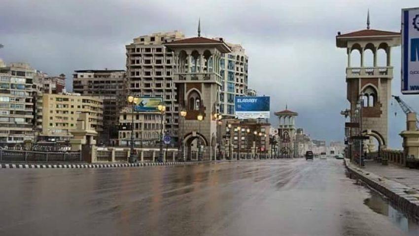 فيديو| أمطار غزيرة.. نوة المكنسة تضرب هذه المناطق