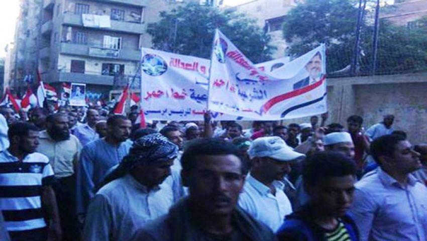 مسيرات حاشدة بالعريش لدعم مرسي
