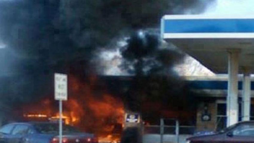 إصابة 27 شخصًا إثر حريق بمحطة وقود بأجا