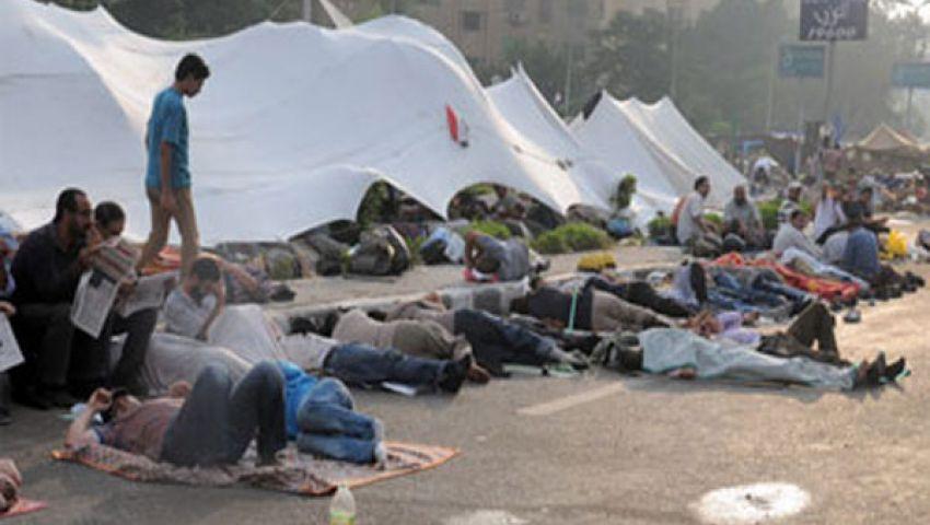 الهدوء يخيم على اعتصام رابعة العدوية بعد ليلة حاشدة