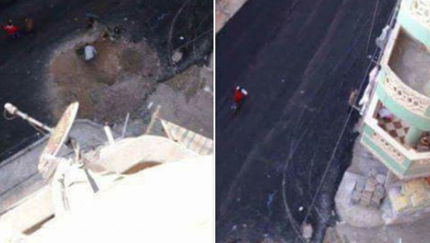 شاهد.. نشطاء يسخرون: سفلتوا شارع وبعديها بنص ساعة حفروه تاني