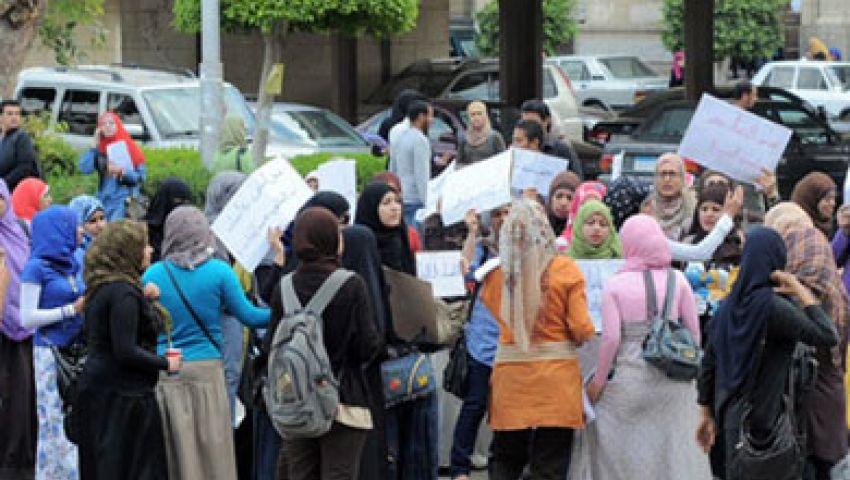 هدوء بجامعة الأزهر بنات واختفاء مدرعات الأمن