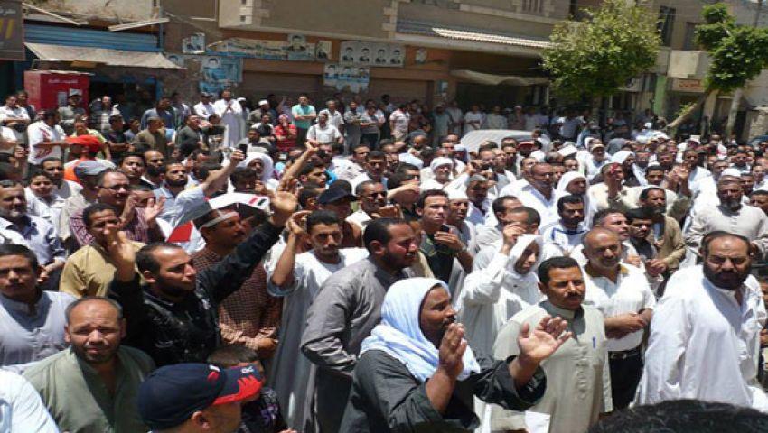 بالصور.. وقفة لتأييد مرسي في إطسا بالفيوم