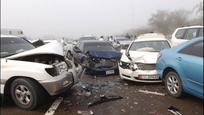 إصابة 11 شخصًا في حادث سير بالمنيا