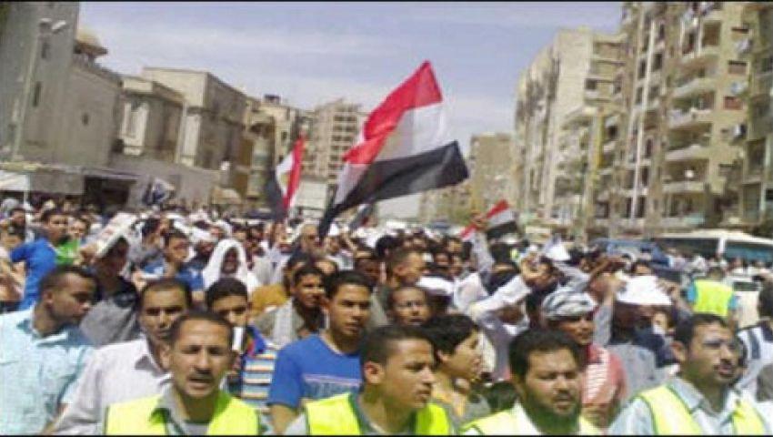 قوى إسلامية تتظاهر دعمًا لـ مرسي بأسيوط