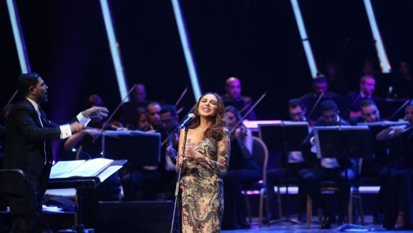 صور|  بحالة خاصة جدا.. أنغام تتألق في مهرجان الموسيقى العربية
