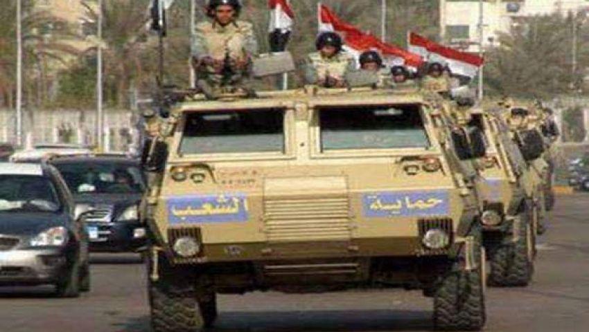 مدرعات الجيش تنتشر قرب الميادين لحماية التظاهرات