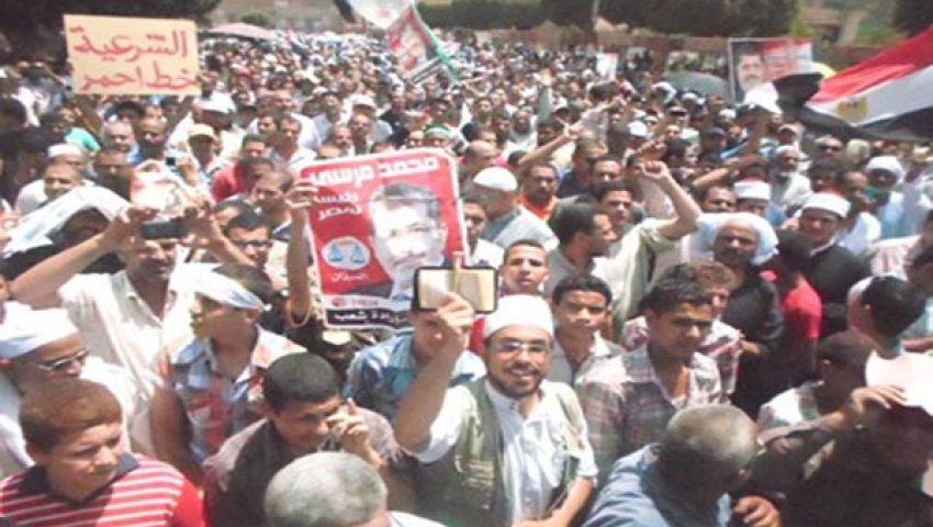 الإخوان تنظم 3 مسيرات مؤيدة لمرسي ببني سويف