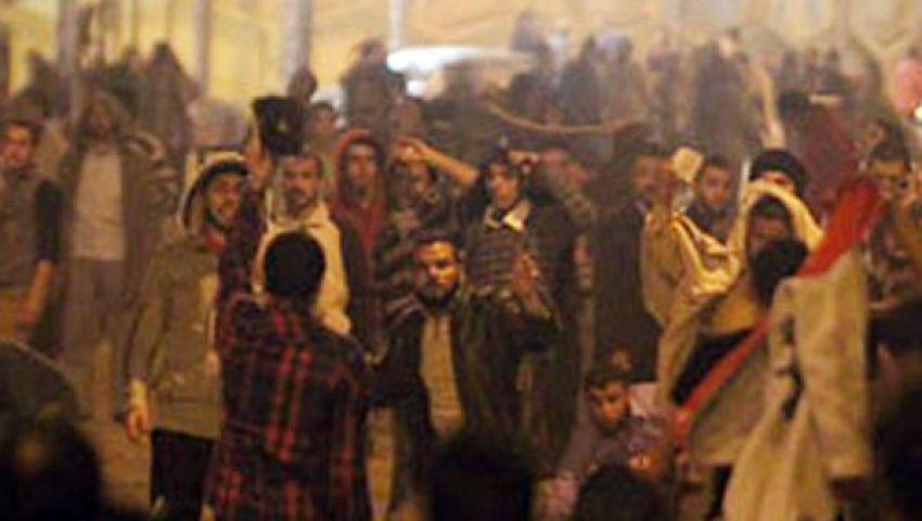إصابة 3 متظاهرين بطلقات خرطوش في أشمون