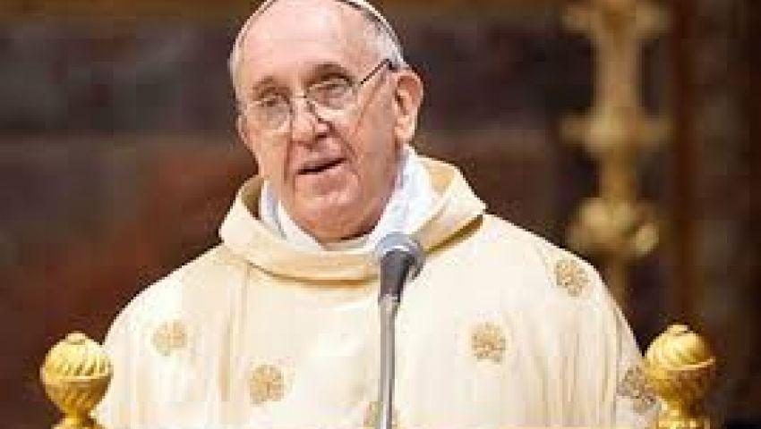 بابا الفاتيكان يدين التطرف باسم الدين في مصر