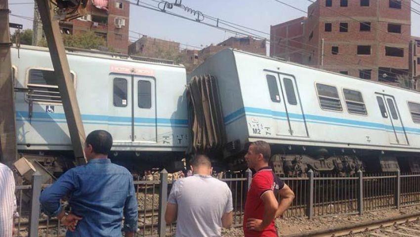 فيديو وصور| بعد خروجه عن القضبان..«الهيئة» تكشف موعد تشغيل مترو المرج