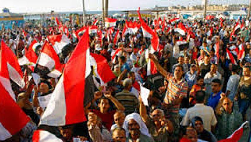 الآلاف يحتشدون بسيدي جابر بالاسكندرية لرفض الارهاب