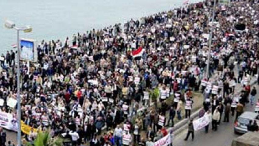 نشطاء بالإسكندرية يحشدون لمليونية ضد العنف والإرهاب