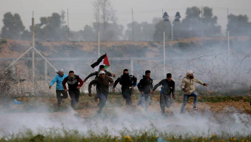 على حدود غزة.. إصابة 4 فلسطينيين برصاص الاحتلال
