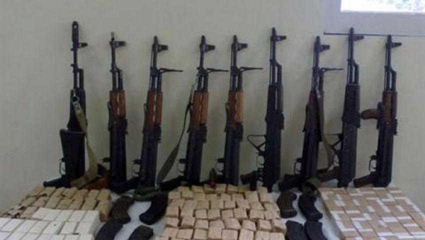 حرس الحدود يضبط 14 بندقية آلية وخرطوش