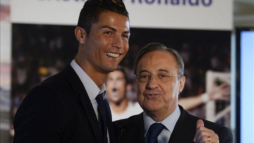 بيريز يثير الشكوك حول بقاء رونالدو في ريال مدريد