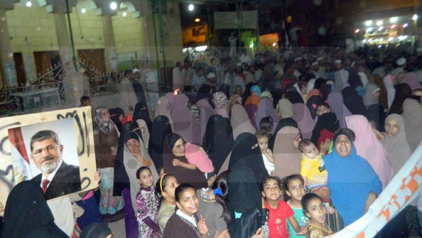 مسيرة لتأييد شرعية مرسي في  طامية بالفيوم