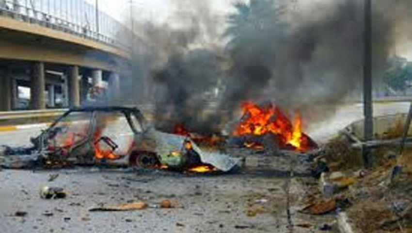 مقتل 10 شرطيين في تفجير سيارة بالموصل