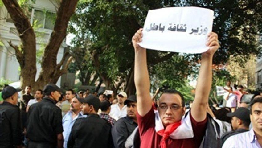 للأسبوع الرابع.. اعتصام المثقفين عرض مستمر