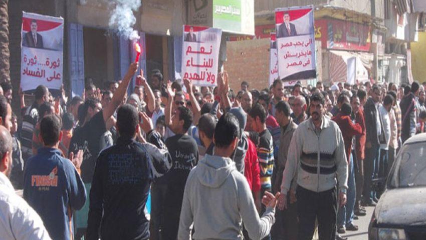فيديو..مسيرتان مؤيدتان لمرسي بدمياط