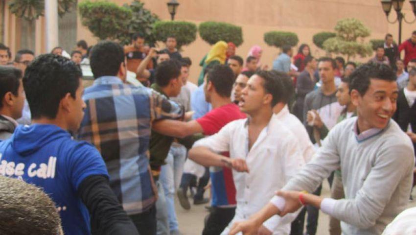 اشتباكات بالحجارة بين طلاب جامعة المنوفية