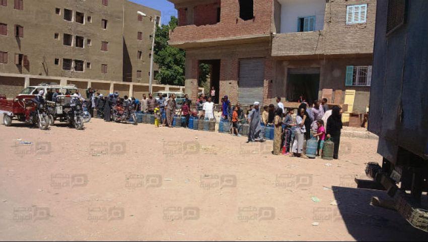 بالصور| أزمة الأنابيب تضرب مراكز قنا.. ومصدر: تبعات العيد