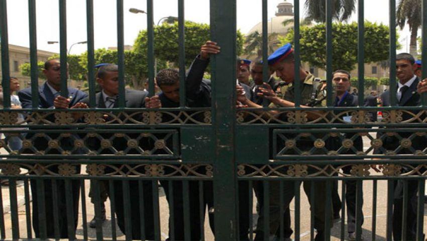إغلاق أبواب قصر الاتحادية بالكتل الخرسانية
