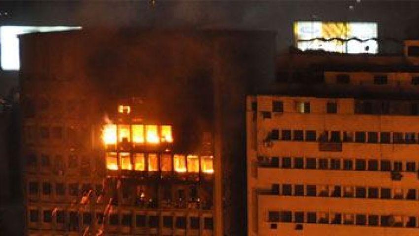 المقاولون العرب: احتراق الشركة بإطلاق النار من الطائرات على المتظاهرين