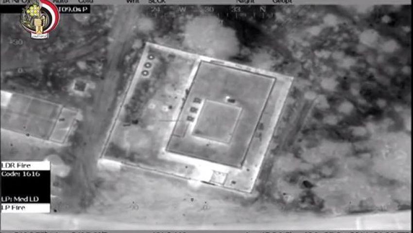 فيديو.. الجيش ينشر أولى مشاهد القصف الجوي بسيناء