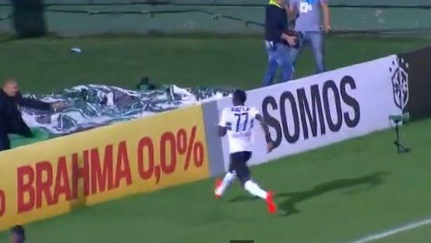 فيديو ..احتفال بهدف يتحول إلى موقف محرج بالدوري البرازيلي