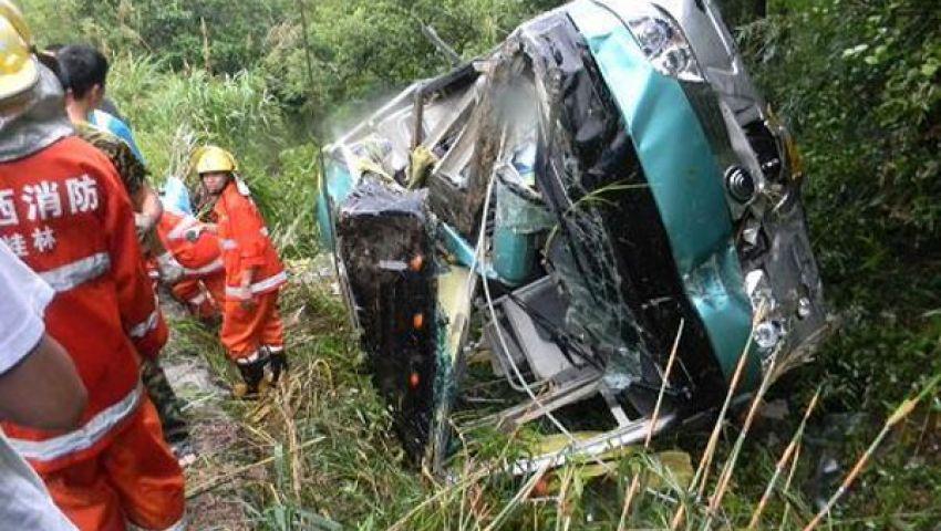 13 قتيلاً و23جريحًا جراء سقوط حافلة في واد صيني