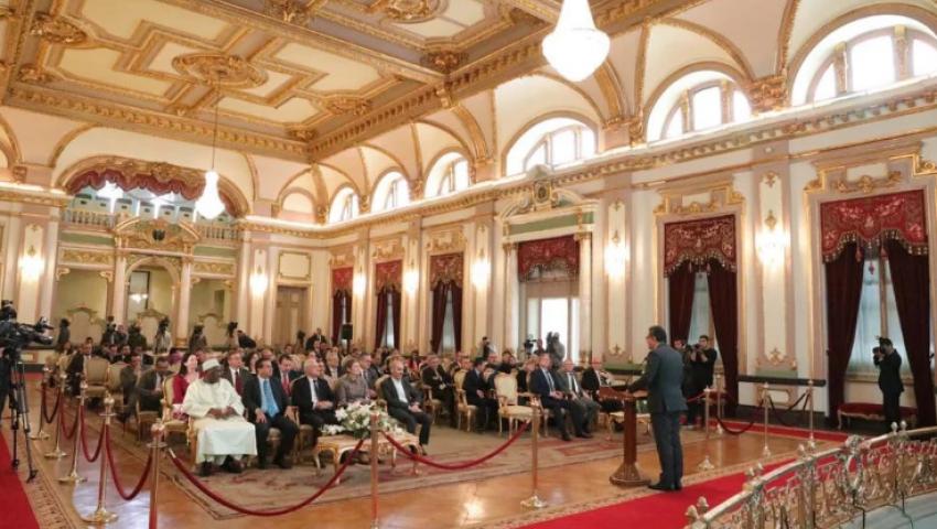 بالصور  فى أول زيارة للجمهور.. جولة سياحية داخل قصر عابدين لسفراء 30 دولة أجنبية