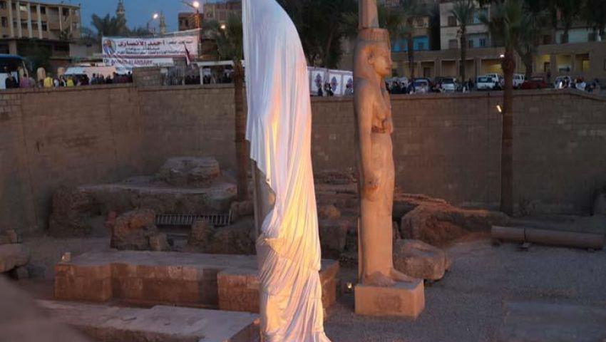تفاصيل ترميم 70 قطعة لتمثال رمسيس الثاني في أخميم