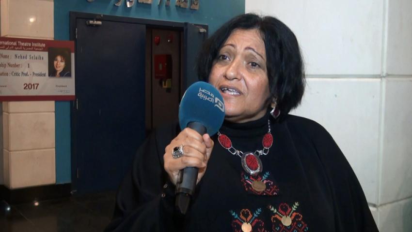 بالفيديو| عبير علي: لولا نهاد صليحة لأصبحنا عابري سبيل بالمسرح