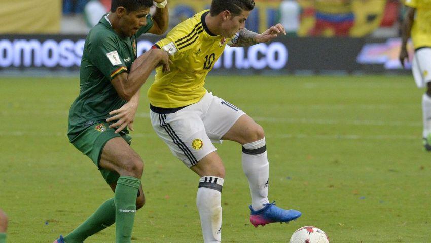 بالفيديو| جيمس روديجيز يقود كولومبيا لفوز ثمين على بوليفيا
