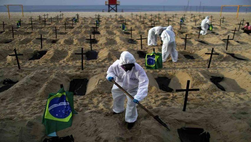 أكثر من 31 ألف إصابة جديدة بكورونا في البرازيل و729 وفاة