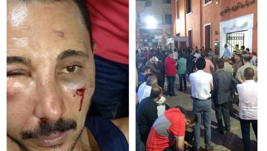 النائب العام يأمر بحبسه.. تفاصيل اعتداء ضابط شرطة على محام بالمحلة
