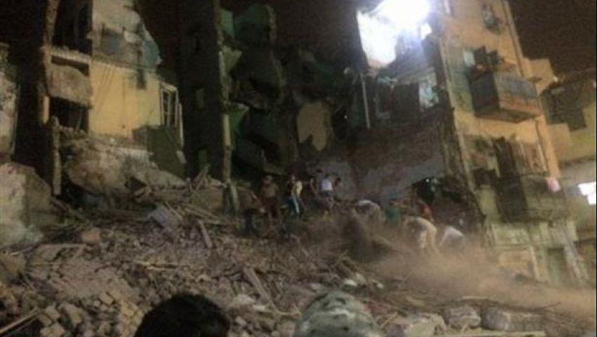 إنقاذ 6 أشخاص من تحت أنقاض عقار بولاق أبو العلا