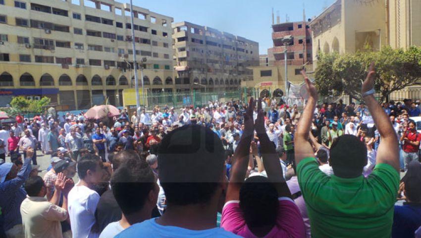 انطلاق مسيرة مسجد الصباح بشارع الهرم