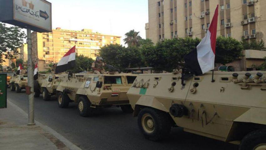 الجيش يغلق طريق المثلث بالسويس