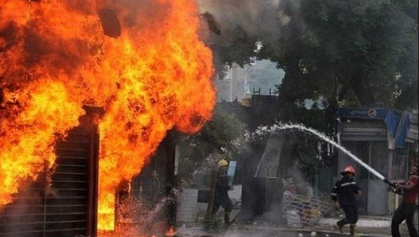 بالصور| اندلاع حريق هائل في أطنان قمامة بالمحلة