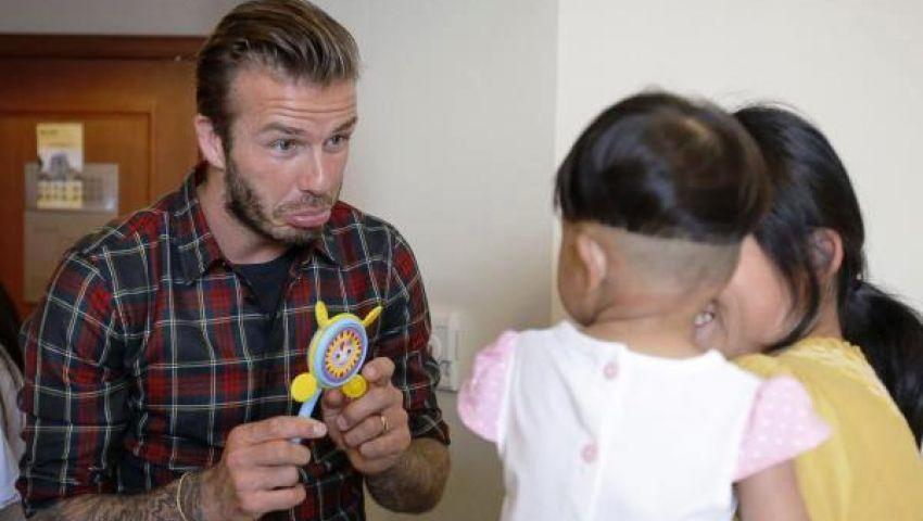 بيكهام يتبرع بجزء من راتبه لمستشفى ومنظمة خيرية