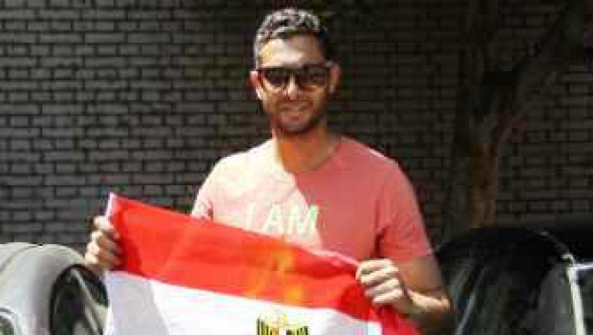 حارس الأهلي يحتفل بإسقاط مرسي