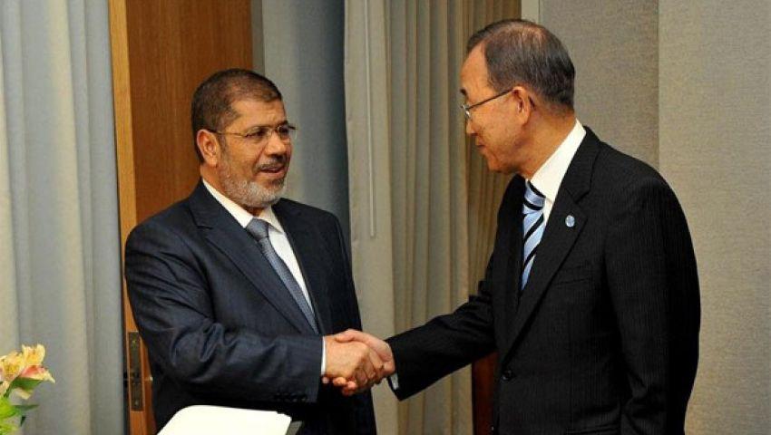كي مون يدعو إلى إطلاق سراح مرسي