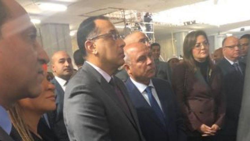 وزير النقل يشهد دخول ماكينة الحفر العملاق لمحطة ماسبيرو