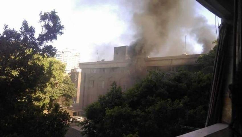هكذا أنقذت الحماية المدنية وكيل نيابة من الموت فى حريق محكمة إمبابة