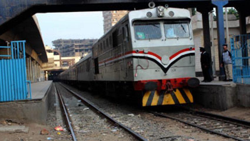 استئناف حركة قطارات تلا- طنطا بعد قطعها لساعات