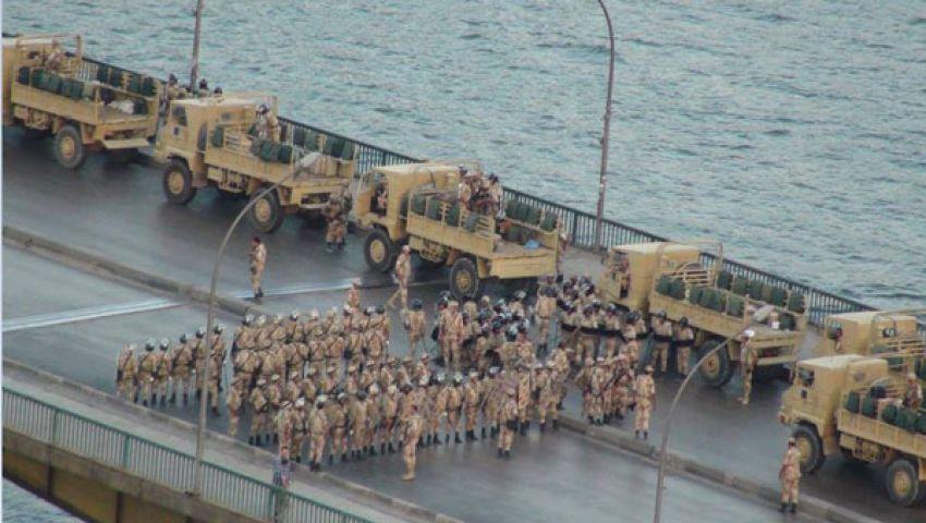 الجيش ينتشر بأماكن التظاهرات الرئيسية بالقاهرة